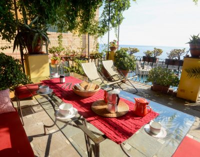 Three-room apartment on the sea with terrace in Camogli